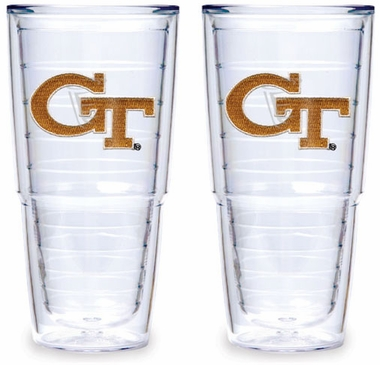Georgia Tech Set of TWO 24 oz. Tervis Tumblers