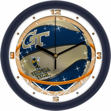 Georgia Tech Slam Dunk Wall Clock