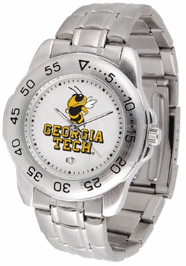 Georgia Tech Sport Men's Steel Band Watch