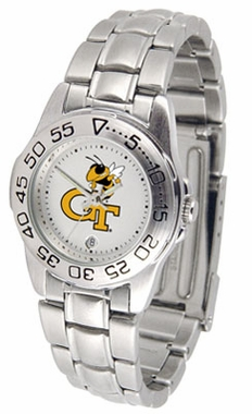 Georgia Tech Sport Women's Steel Band Watch