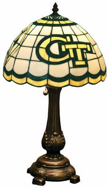 Georgia Tech Stained Glass Table Lamp