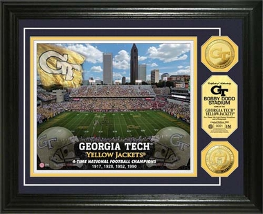Georgia Tech Yellow Jackets Georgia Tech Gold Coin Photo Mint