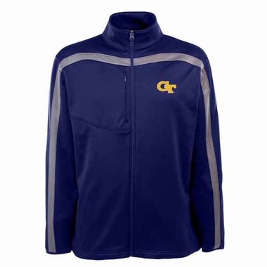 Georgia Tech Mens Viper Full Zip Performance Jacket (Team Color: Navy)
