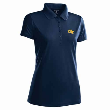 Georgia Tech Womens Pique Xtra Lite Polo Shirt (Team Color: Navy)