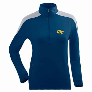 Georgia Tech Womens Succeed 1/4 Zip Performance Pullover (Team Color: Navy)