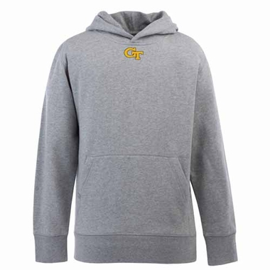 Georgia Tech YOUTH Boys Signature Hooded Sweatshirt (Color: Gray)