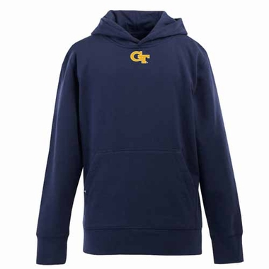 Georgia Tech YOUTH Boys Signature Hooded Sweatshirt (Team Color: Navy)