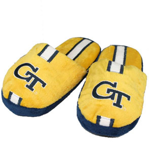 Georgia Tech YOUTH Team Stripe Slide Slippers - Medium