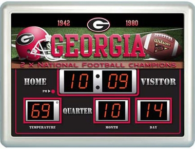 Georgia Time / Date / Temp. Scoreboard