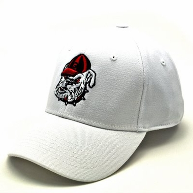 Georgia White Premium FlexFit Hat