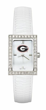Georgia Women's White Leather Strap Allure Watch