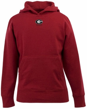 Georgia YOUTH Boys Signature Hooded Sweatshirt (Team Color: Red)