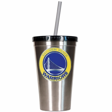 Golden State Warriors 16oz Stainless Steel Insulated Tumbler with Straw