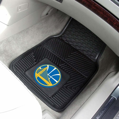 Golden State Warriors 2 Piece Heavy Duty Vinyl Car Mats