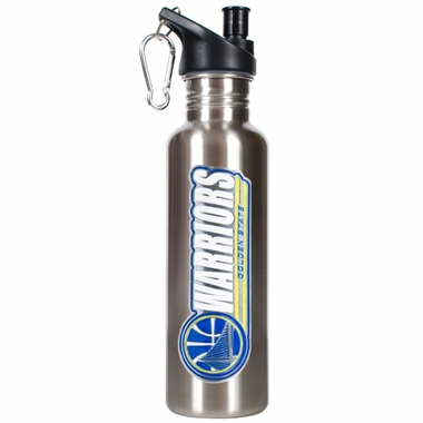 Golden State Warriors 26oz Stainless Steel Water Bottle (Silver)