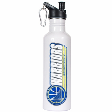 Golden State Warriors 26oz Stainless Steel Water Bottle (White)