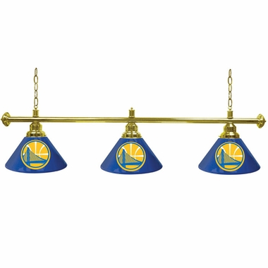 Golden State Warriors 3 Shade Billiard Lamp