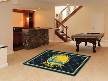 Golden State Warriors 5 Foot x 8 Foot Rug