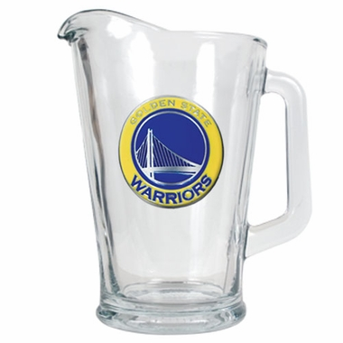 Golden State Warriors 60 oz Glass Pitcher