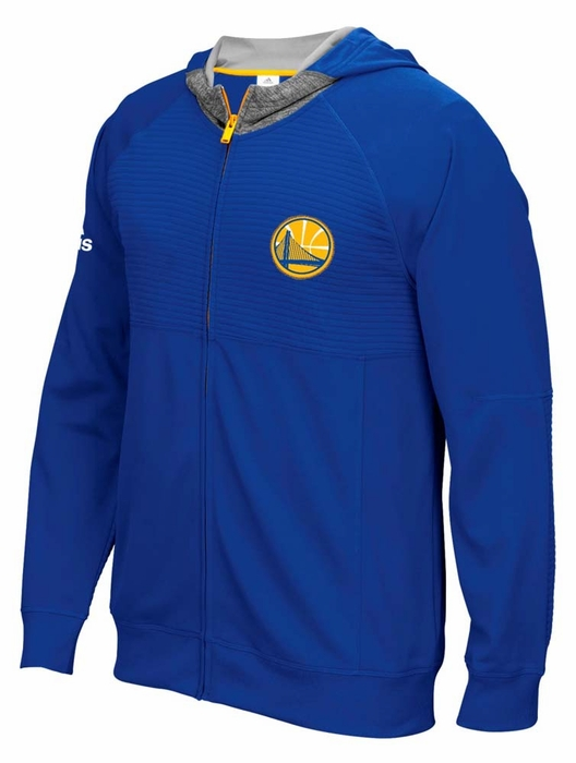 Golden state warriors adidas 2016 on court pre game full zip hooded
