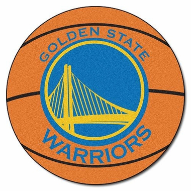 Golden State Warriors Basketball Shaped Rug