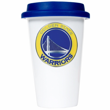 Golden State Warriors Ceramic Travel Cup (Team Color Lid)