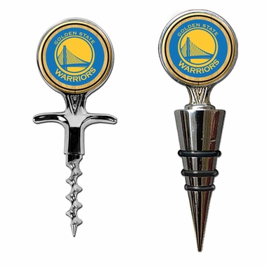 Golden State Warriors Corkscrew and Stopper Gift Set