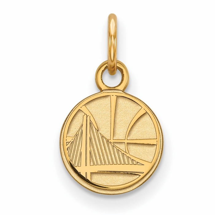 golden state warriors small 3 8 inch pendant 10k