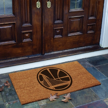 Golden State Warriors Flocked Coir Doormat