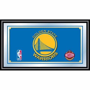 Golden State Warriors Framed Logo Bar Mirror