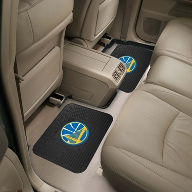 Golden State Warriors SET OF 2 Heavy Duty Vinyl Rear Car Mats
