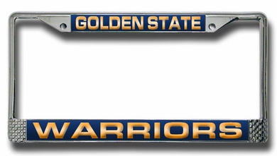 Golden State Warriors Laser Etched Chrome License Plate Frame
