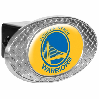 Golden State Warriors Metal Diamond Plate Trailer Hitch Cover
