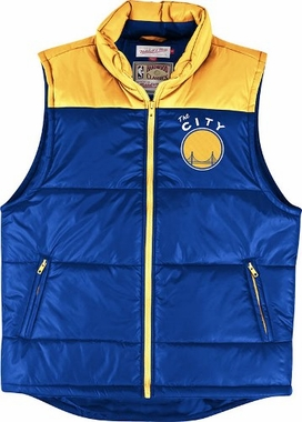 Golden State Warriors Mitchell & Ness Winning Team Throwback Snap Vest Jacket
