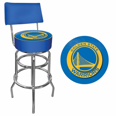 Golden State Warriors Padded Bar Stool with Back