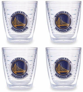 Golden State Warriors Set of FOUR 12 oz. Tervis Tumblers