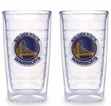 Golden State Warriors Set of TWO 16 oz. Tervis Tumblers