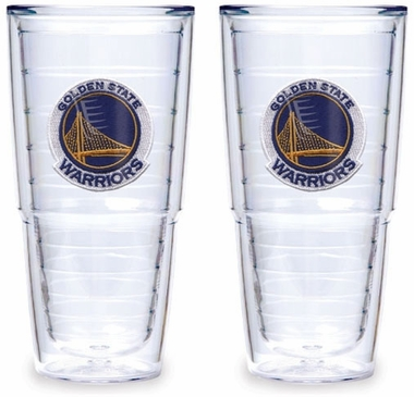 Golden State Warriors Set of TWO 24 oz. Tervis Tumblers