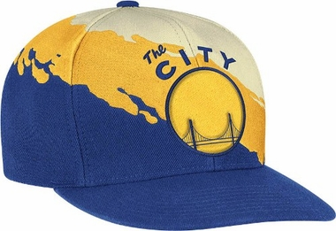 Golden State Warriors Vintage Paintbrush Snap Back Hat