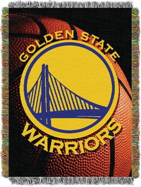 Golden State Warriors Woven Tapestry Blanket
