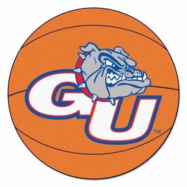 Gonzaga 27 Inch Basketball Shaped Rug