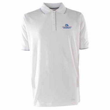Gonzaga Mens Elite Polo Shirt (Color: White)