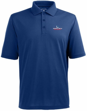 Gonzaga Mens Pique Xtra Lite Polo Shirt (Team Color: Royal)