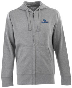 Gonzaga Mens Signature Full Zip Hooded Sweatshirt (Color: Gray) - Medium