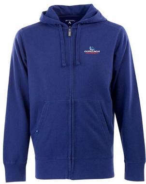 Gonzaga Mens Signature Full Zip Hooded Sweatshirt (Team Color: Royal)