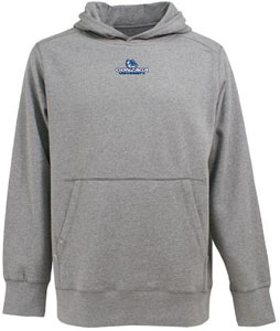 Gonzaga Mens Signature Hooded Sweatshirt (Color: Gray) - Medium