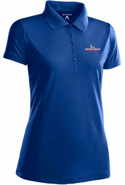 Gonzaga Womens Pique Xtra Lite Polo Shirt (Color: Royal)