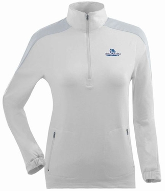 Gonzaga Womens Succeed 1/4 Zip Performance Pullover (Color: White)