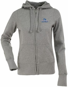 Gonzaga Womens Zip Front Hoody Sweatshirt (Color: Gray)
