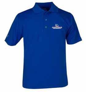 Gonzaga YOUTH Unisex Pique Polo Shirt (Color: Royal) - X-Large